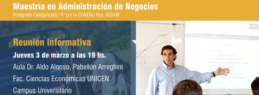 Reunión Informativa – Jueves 3 de Marzo de 2016 – 19 hs.