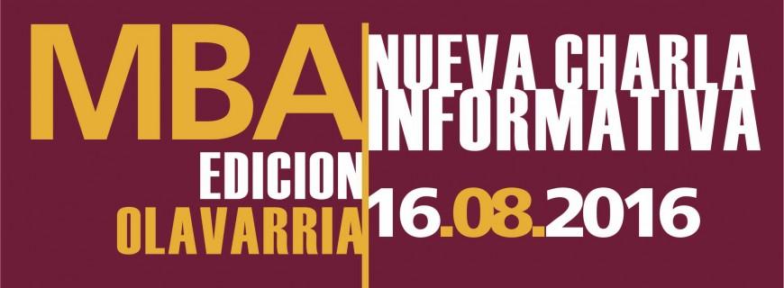 Nueva Charla Informativa MBA Olavarría