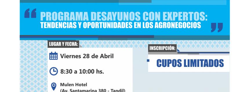 """Invitación Charla """"TENDENCIAS Y OPORTUNIDADES EN LOS AGRONEGOCIOS"""""""