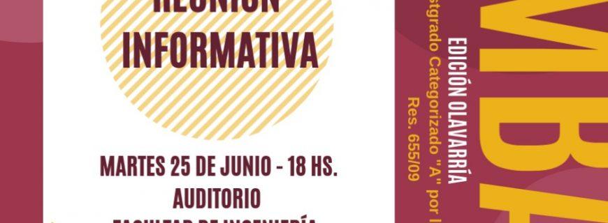 Reunión Informativa MBA – Olavarría – 25/06, 18 hs.