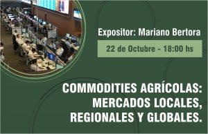 """INVITACIÓN A CHARLA """"Commodities Agrícolas"""""""